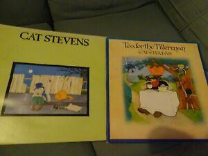 2 X CAT STEVEN'S LP'S - TEA FOR THE TILLERMAN / TEASER & THE FIRECAT - ISLAND