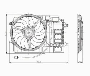 Dual Radiator and Condenser Fan Assembly TYC 621080 fits 03-08 Mini Cooper
