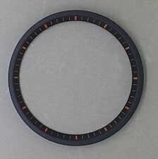 Black w/ Orange Markers SEIKO 7002 Chapter Ring (minute track- mod parts) New