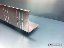 Kiesfangleiste höhenverstellbar 2m Stk, Kiesleiste Aluminium 1,5mm, Kiesfang Alu