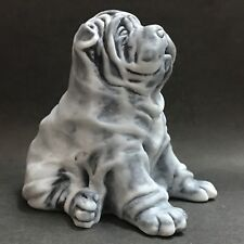 Shar Pei Welpe figurine Hund aus Marmorstaub aus Russland