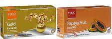 VLCC FACIAL KITS - GOLD FACIAL KIT & PAPAYA FRUIT FACIAL KIT - pack of 2