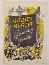 Vintage 1949 Golden Nugget Gaming Gambling Guide Craps Roulette