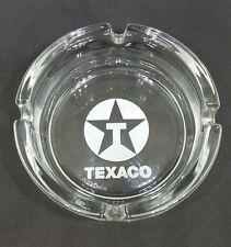 2x  BIG CLEAR GLASS 10.5cm TEXACO ASHTRAYS ASHTRAY SOUVENIR