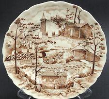 Johnson Bros Dinner Plate 10in PA German Folklore Canada Mennonite 60s Pioneer