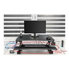 Frommstarck Sit-Stand Desk Computer Workstation Office Continuously Table Black
