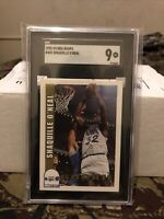 1992 NBA Hoops #442 Shaquille O'Neal SGC 9 Newly Graded RC Rookie PSA BGS