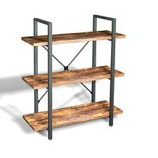 Shelving Bookcase Wood Wide Bookshelf Open Metal Farmhouse Book Shelf NEW