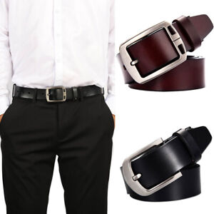 Belt Male Genuine Leather Strap Luxury Pin Buckle Belts for Men Casual Jeans