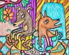 Miniature Pinscher Coffee Time Dog Pop Art Print 11 x 14 Artist Signed Min Pin