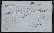 PREFILATELICA LOMBARDO VENETO 1834 da Villafranca a Verona