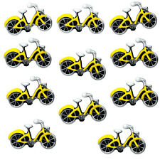 Yellow Bike Floating Charm For Memory Locket Necklaces & Bracelet