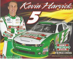 """2014 KEVIN HARVICK """"HUNT BROTHER PIZZA"""" #5 JR MOTORSPORTS NASCAR NWIDE POSTCARD"""