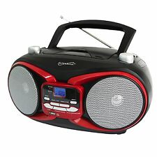 PORTABLE MP3 CD PLAYER AM/FM RADIO BOOMBOX w/ USB AUX-IN INPUT AC/DC NEW