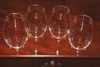 Set of 4 Riedel O Syrah Stemless Wine Glasses Signed