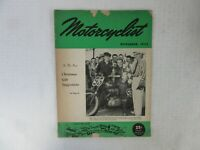 VINTAGE 'MOTORCYCLIST' MOTORCYCLE MAGAZINE, NOVEMBER 1952
