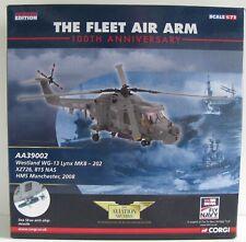 Corgi aviación archivo AA39002 1:72 Westland Lynx helicóptero HMS Manchester WG13