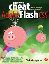 NEW How to Cheat in Adobe Flash CS5 by Chris Georgenes Paperback Book& CD B181