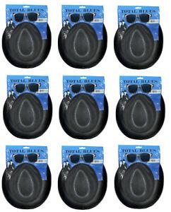 10x BLUES BROTHERS HAT & GLASSES SUNGLASSES COSTUME FANCY DRESS 1980s Party QR59