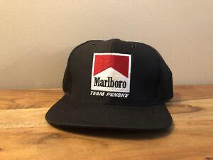 EUC Vintage Embroidered Marlboro Team Penske Snapback Hat Cigarette Fast Ship