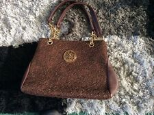 womens hand bag brown and gold