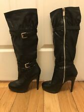 Michael Kors Black Knee High Boots leather size 7M