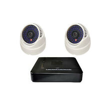 2CH 1.0MP 720P HD IP Camera Indoor Dome 36Blue IR 4CH NVR CCTV Security KIT