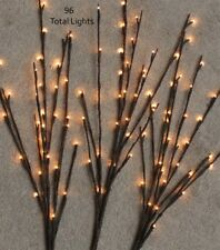 "39"" Lighted Twig Branch with 96 warm lights -- Electric"