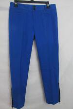 cartonnier womens casual pants size 4 ankle zip blue trouser charlie ankle