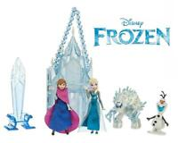Frozen Olaf Elsa Anna Monster & Ice Castle Playset Figures Set Lot Cake Toppers