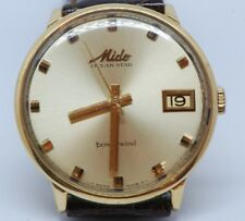 Mido oversize automatico powerwind in oro 18 KT vintage
