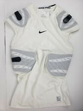 Nike Mens Pro Hyperstrong 4-Pad Football White Top Shirt Size Xl 838431-100