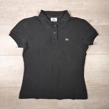 Ladies LACOSTE Black Vintage Designer Polo Shirt T-Shirt Size 38 / UK 8 #E2704