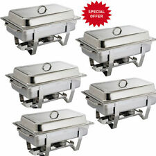 Chafing Dish 5 Pack Catering Grade Stainless Steel Delivery