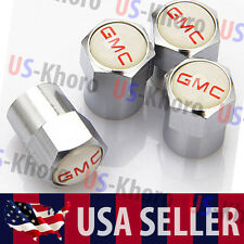 GMC Logo Valves Stems Caps Covers Chromed Wheel Roundel Car Auto Tire Emblem USA