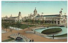 FRANCO BRITISH EXHIBITION, LONDON 1908 - COURT OF ARTS. Postcard*