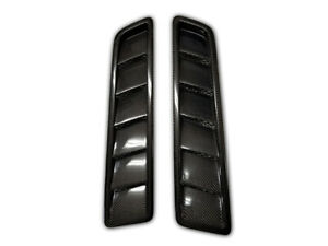 Carbon Fiber Hood Vents OE Style for 2013 2014 Ford Mustang GT, Set of 2