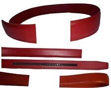 Men's Leather belt strap, Automatic sliding buckle Auto-lock Strap only