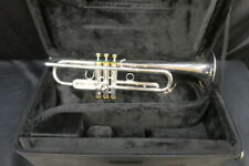 Schilke B1 Silver Plated Bb Trumpet - EXCELLENT Condition - Gold Caps & Buttons