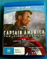 CAPTAIN AMERICA THE FIRST AVENGER 3D BLU-RAY + BLU-RAY + DVD 3 DISCS see below