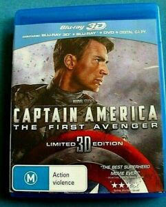 CAPTAIN AMERICA THE FIRST AVENGER 3D BLU-RAY + BLU-RAY + DVD 3 DISCS *see below
