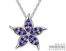 Realizzata con elementi Swarovski Viola Cristallo Stella Marina Ciondolo e Collana - £ 35