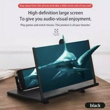 Large 12in Folding Phone Video Screen Amplifier Magnifier Universal Stand 3D HD