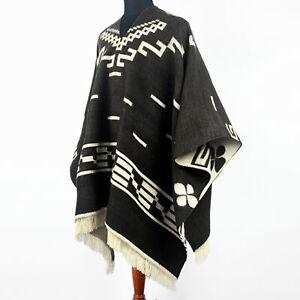 Clint Eastwood Western Cowboy Poncho Serape replica handmade Alpaca wool black