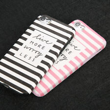 For iPhone 8 7 6 6s Plus Luxury Slim Stripe Pattern Silicone Soft TPU Case Cover