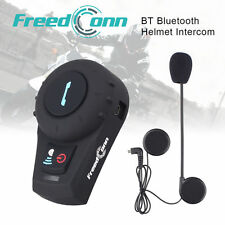 500M Bluetooth Intercom BT Motorcycle Helmet Interphone Headsets FM for 2 Riders