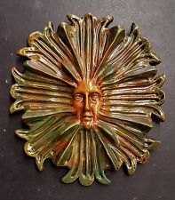 Vintage Green Man Leaf Tree Face Tree Forest Wall Hanging Plaque