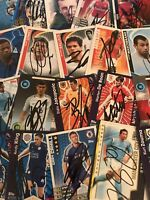 match attax, shoot out & world cup signed cards