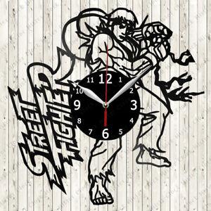 Street Fighter Vinyl Record Wall Clock Decor Handmade 6734
