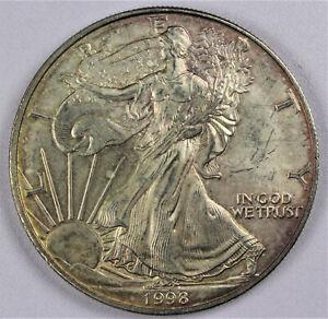 1998 American Silver Eagle 1 oz .999 Silver Bullion Coin
